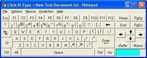 Виртуальная мануал Click-N-Type